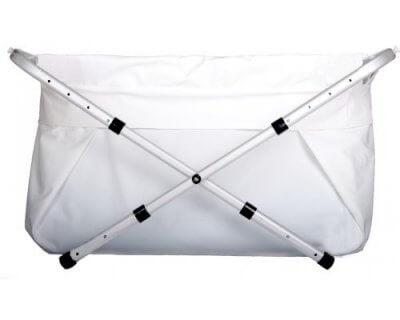 BiBaBad Flexi Badkar 70-90 cm Vit ram/vit påse